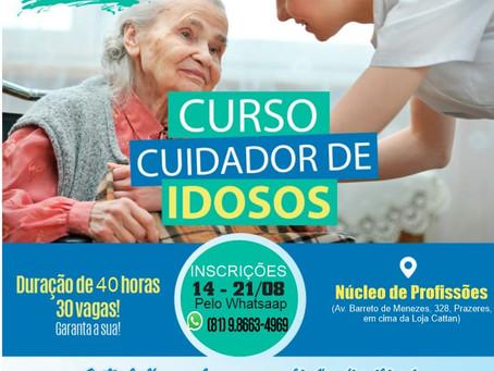Vagas abertas para o curso de cuidador de idosos