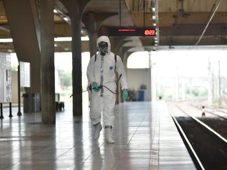 Militares voltam a realizar ações de desinfecção em estações do Metrô do Recife e da RMR