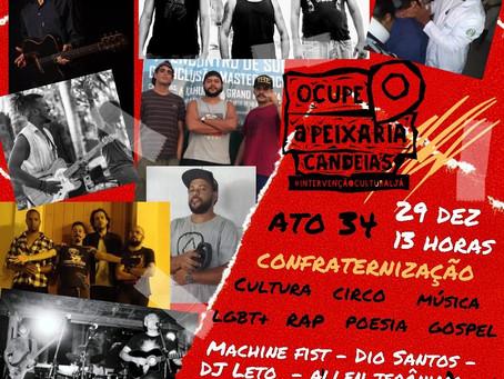 Ocupe a Peixaria realiza mais uma edição neste domingo(29)