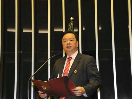 Presidente da  Câmara de Comércio de Desenvolvimento Internacional Brasil China chega ao Recife