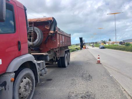 Começam as obras em importante acesso da BR-101, no bairro de San Martin