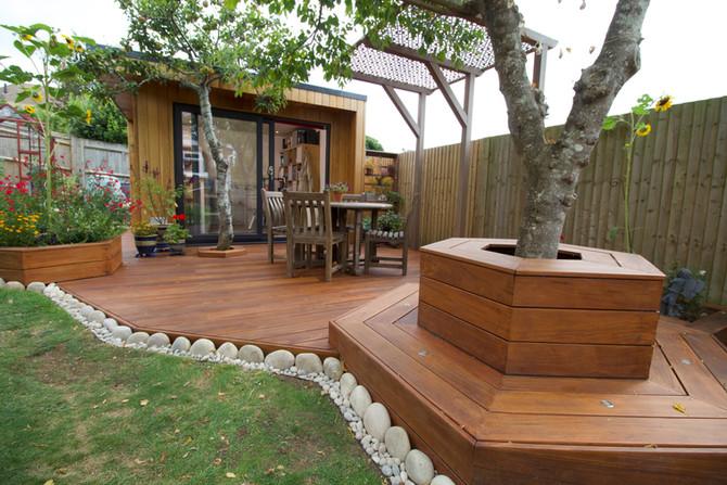 Art Studio with Hardwood Decking