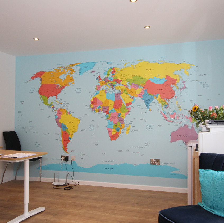 World Map Feature Wall