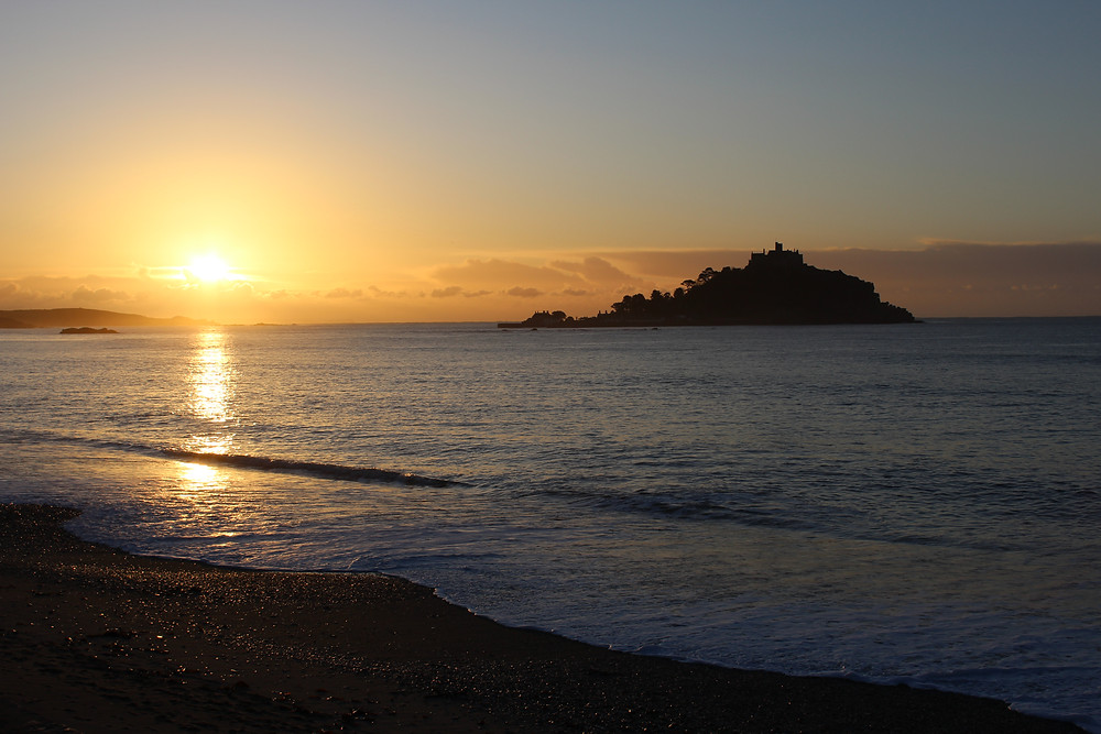 Sunrise at St Michael's Mount Timber Rooms