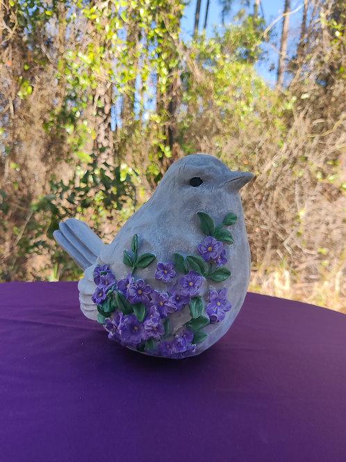 CARVED BIRD W/ FLOWERS