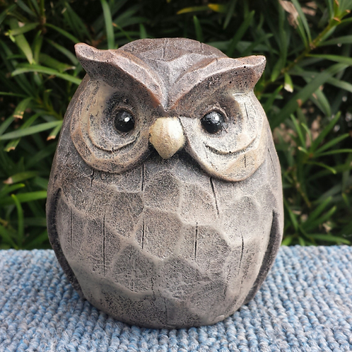 CARVED WOOD OWL-latex only