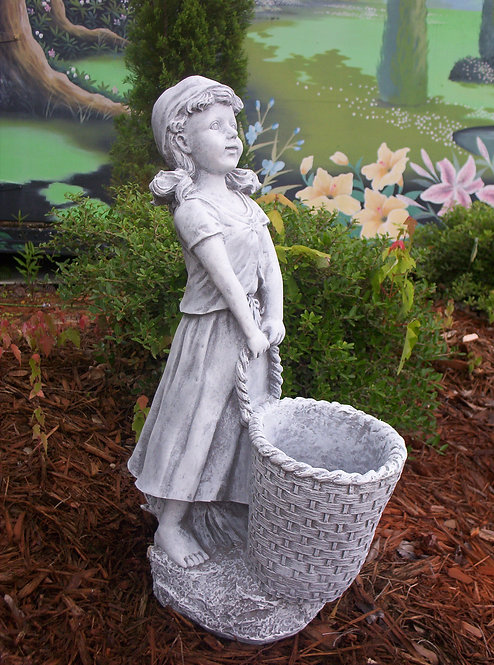GIRL WITH BASKET PLANTER