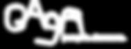 Gaga Logo - WHITE Font Transparent Backg