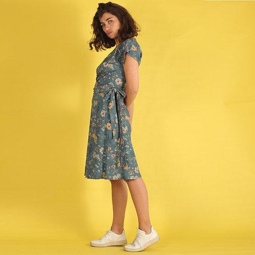 ManduTrap - Floralia Wrap Dress (Multicolor)