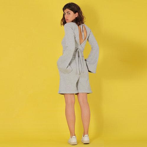 ManduTrap - Farina Wrap Shirt (Grey Melange)