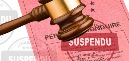Suspension permis de conduire