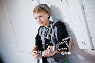Ben with his Electric Guitar