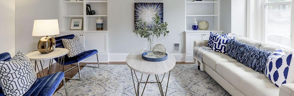 Home Decor in Living Room, Maryland Realtors
