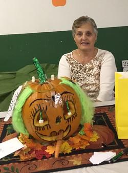2018 Pumpkin Carving Diane