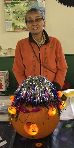 2018 Pumpkin Carving Margaret