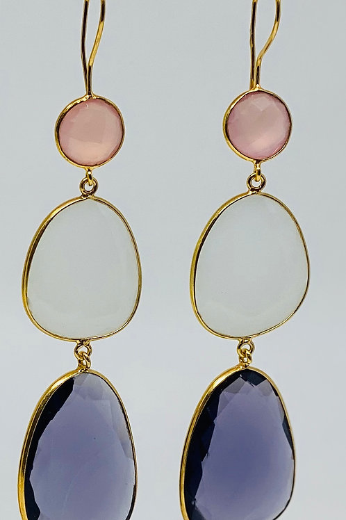 Amethyst Milky and Pink Chalcedony