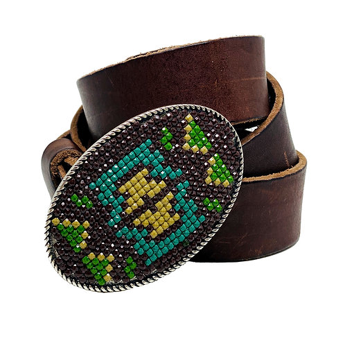 Ceinture Cuir Home-Made Marron