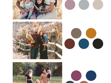 Tips on choosing a color palette for your portrait session wardrobe