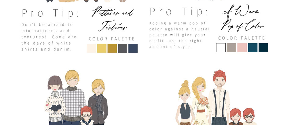 Wardrobe tips for your portraits session