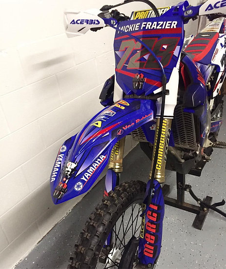 Neon/Chrome Dirt Bike Graphics