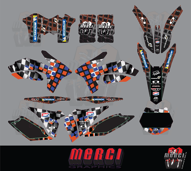Checkered Merci Team Graphics