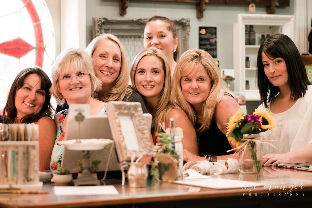 "The wonderful ladies of ""Barn & Charm"""