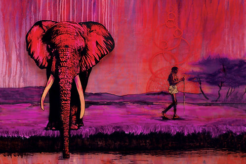 The Elephant and The Traveler by Pierce Marratto