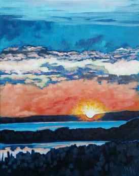 """3am Yellowknife Sunrise"""
