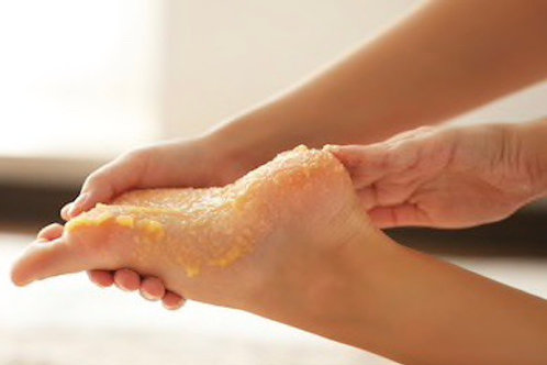 Foot scrub add-on
