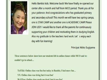 News Letter Vol.3 バンビス英語教室
