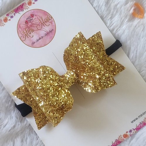 Glitzy Beauty Headband - Bright Gold