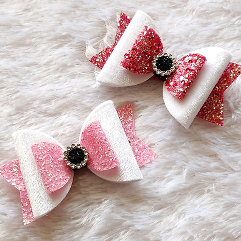 White & Red Bow