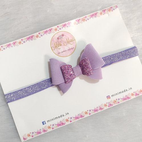 Butterfly Bow Headband - Lavender
