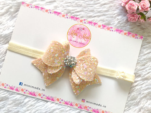 Princess Sparkle Bow- Off White