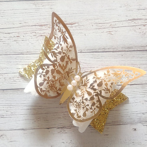 Bright Gold Butterfly Bow