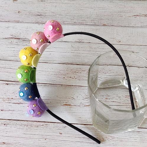 Bejewelled Pastel Rainbow Hairband