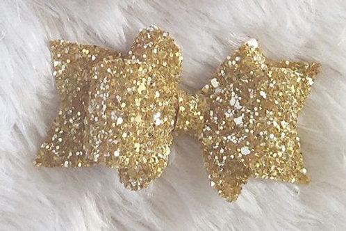 Princess Sparkle Bow Clip -Gold