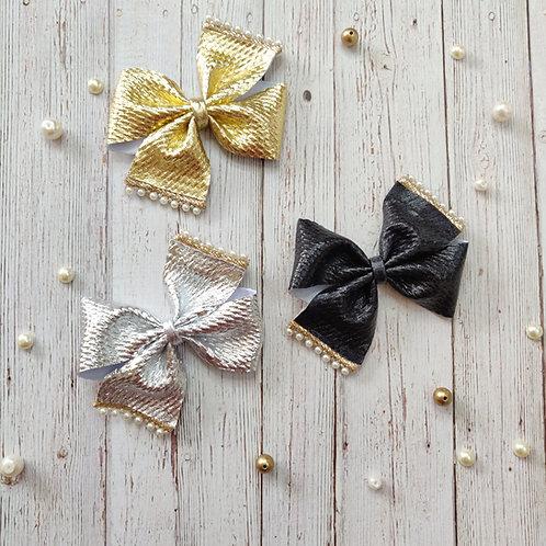 Metallics Pinwheel Bow Set