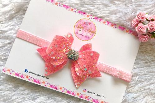 Princess Sparkle Bow - Pink
