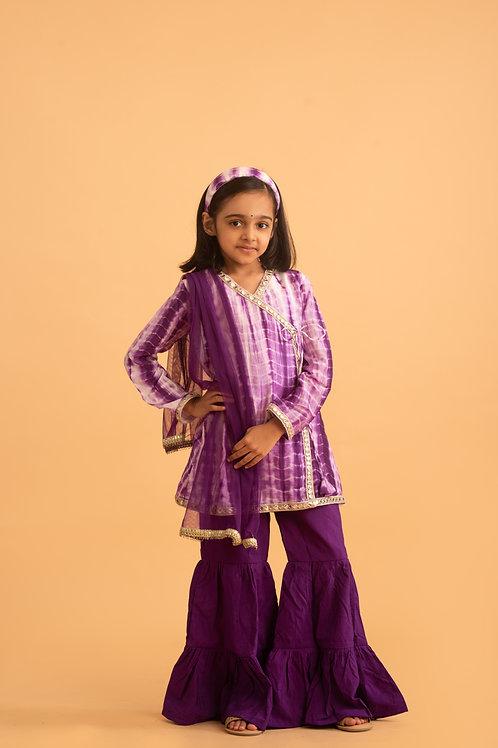 Ekiya Tie & Dye Set in Purple