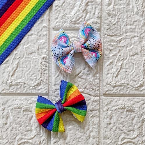 Ditsy Rainbow Bow Set