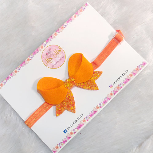 Sparkling Angel Headband -Orange