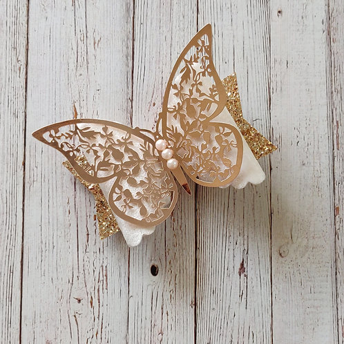 Rose Gold Butterfly Bow