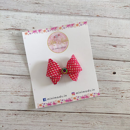 Disco Bow - Red