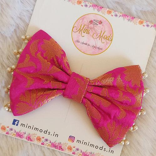 Banarasiya Bows - Hot Pink