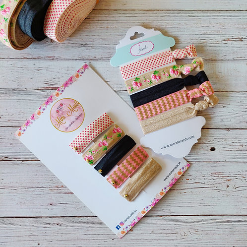 Tie-me Up - Hairties & Hairclip Combo
