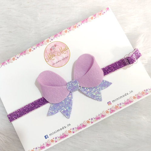 Sparkling Angel Headband - Lavender