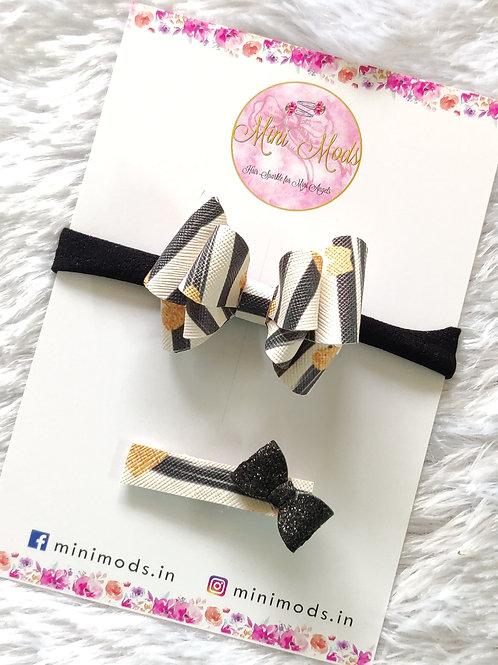 Stripe Butterfly Bow