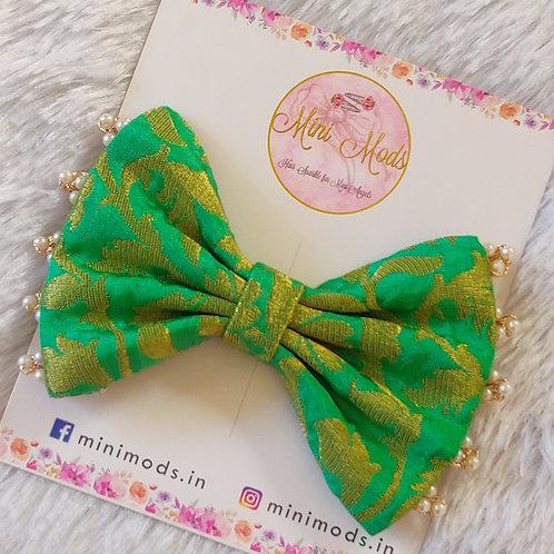 Banarasiya Bows - Mint Green