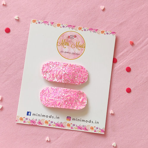 Pink Love Snap Clip